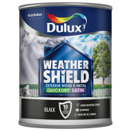 Dulux Weathershield Quick Dry Satin - Black 750ml