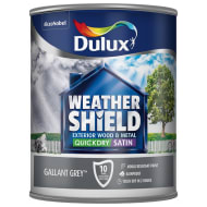 Dulux Weathershield Quick Dry Satin - Gallant Grey 750ml