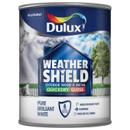 Dulux Weathershield Quick Dry Gloss - Pure Brilliant White 750ml