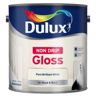 Dulux Non Drip Gloss Paint - Pure Brilliant White 2.5L