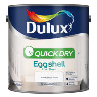 Dulux Quick Dry Eggshell Paint - Pure Brilliant White 2.5L