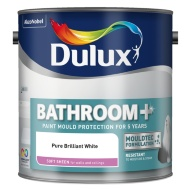 Dulux Bathroom+ Soft Sheen Paint Pure Brilliant White 2.5L