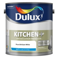 Dulux Kitchen+ Matt Emulsion Pure Brilliant White 2.5L