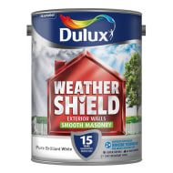 Dulux Weathershield Smooth Masonry Pure Brilliant White 5L