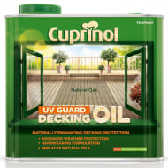 Cuprinol UV Guard Decking Oil Natural Oak 2.5L