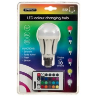 Optimum LED Colour Changing Light Bulb B22