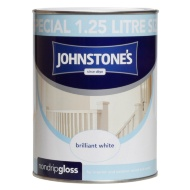 Johnstone's Non Drip Gloss Paint - Brilliant White 1.25L