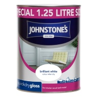 Johnstone's Quickdry Gloss Paint - Brilliant White 1.25L