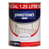 Johnstone's Liquid Gloss Paint - Brilliant White 1.25L