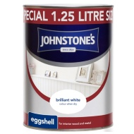 Johnstone's Eggshell Paint - Brilliant White 1.25L