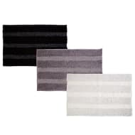 Metallic Stripe Cotton Bath Mat