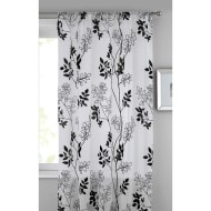 Heather Floral Flocked Voile Curtain 140 x 222cm - White