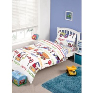 Kids Complete Single Bed Set - Digger