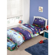 Kids Complete Single Bed Set - Transport