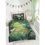 Kids Glow in the Dark Single Duvet Set - Enchanted Forest