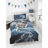 Kids Glow in the Dark Single Duvet Set - Space Walker