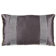 Donna Diamante Boudoir Cushion - Charcoal