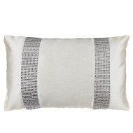 Donna Diamante Boudoir Cushion - White