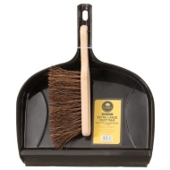 Mason & Jones Heavy Duty Dust Pan & Brush - Brown