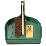Mason & Jones Heavy Duty Dust Pan & Brush - Green