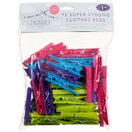 Super Strong Clothes Pegs 75pk