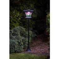 Stained Glass Effect Solar Lamp Post 1.3m