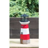 Lighthouse with Spinning Solar Light