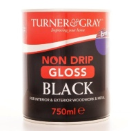 Turner & Gray Non Drip Gloss - Black 750ml