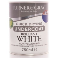 Turner & Gray Quick Drying Undercoat - Brilliant White 750ml