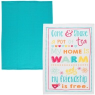 Flat Weave Tea Towel 2pk - Come and Share