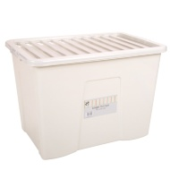 Large Storage Box with Lid - Cream 80L