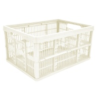 Fold Flat Storage Crate 32L - Cream