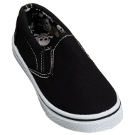 Kids Slip On Canvas Shoes - Navy