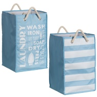 Printed Foldable Laundry Bag with Rope Handle