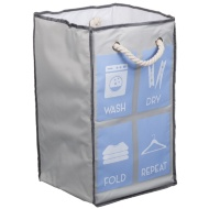 Foldable Square Laundry Bag - Laundry Icons