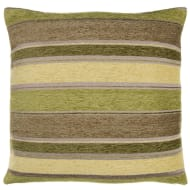 Chloe Chunky Chenille Stripe Cushion - Green