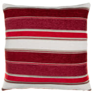 Chloe Chunky Chenille Stripe Cushion - Red