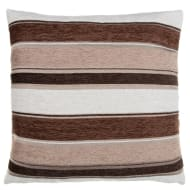 Chloe Chunky Chenille Stripe Cushion - Natural