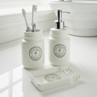 Salle de Bain Marseille Bathroom Set 3pc - White