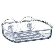 Plastic Suction Soap Dish - Clear