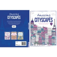 Adult Colouring Book - Amazing Cityscapes
