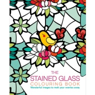 Adult Colouring Book - Stained Glass