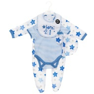 Born in 2016 Baby Clothing Set 5pc - Blue Stars