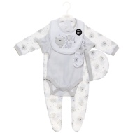 Born in 2016 Baby Clothing Set 5pc - Grey Bear