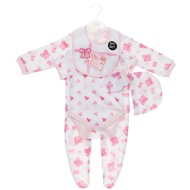 Born in 2016 Baby Clothing Set 5pc - Pink Bows