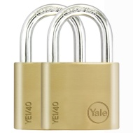 Yale Padlock 2pk - Brass 40mm