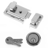 Yale Night Latch - Chrome