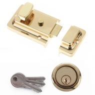 Yale Night Latch - Brass