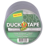 Duck Tape Original 50mm x 50m Twin Pack - Silver