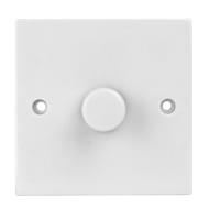 1 Way Dimmer Light Switch - White